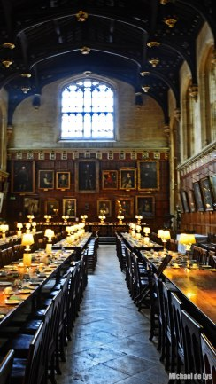 Comedor del College Christ Church. Oxford. Inglaterra.
